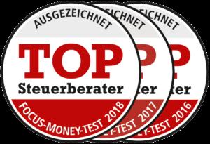 Focus-Money-Test, Top-Steuerberater Auszeichnung 2016, 2017, 2018